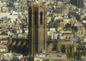 55d9f2eac The bell tower above the terraces of Ciutat Vella.